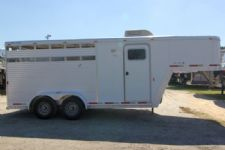 #21931 - Used 2003 Exiss  3 Horse Trailer  with 2' Short Wall
