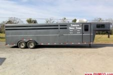 #34143 - Used 2005 Titan CX300 Stock Trailer  with 8' Short Wall
