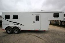 #04321 - New 2015 Bison 7260LQ Dixie Renegade 2 Horse Trailer  with 6' Short Wall