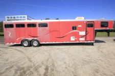 #55453 - Used 2002 CM 8410LQ 4 Horse Trailer  with 10' Short Wall
