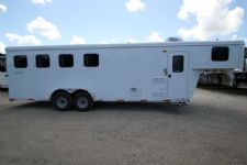 #04357 - New 2015 Bison Trail Hand 7460LQ S 4 Horse Trailer  with 6' Short Wall