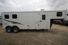 #04358 - New 2015 Bison 7280LQ Dixie Renegade 2 Horse Trailer  with 8' Short Wall