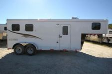 #04361 - New 2015 Bison 7260LQ Dixie Renegade 2 Horse Trailer  with 6' Short Wall