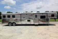 #04362 - New 2014 Bison Silverado 8316GLQRK 3 Horse Trailer  with 16' Short Wall
