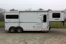 #A5422 - Used 2011 Sundowner 7280LQ 2 Horse Trailer  with 8' Short Wall