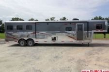 #04367 - New 2014 Bison Premier 8314GLQBAR 3 Horse Trailer
