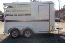 #77925 - New 2014 Dixie Tuff 2HBPSL 2 Horse Trailer  with 2' Short Wall