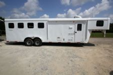 #04385 - New 2015 Bison Trail Hand 7480LQ 4 Horse Trailer  with 8' Short Wall