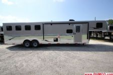 #04387 - New 2015 Bison Ranger 8410GLQ 4 Horse Trailer  with 10' Short Wall