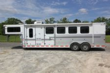 #02127 - Used 2003 Silver Star 7460LQ 4 Horse Trailer  with 6' Short Wall