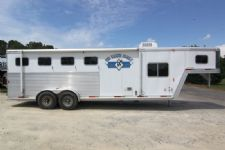 #14333 - Used 2002 Exiss XT406LQ 4 Horse Trailer  with 6' Short Wall