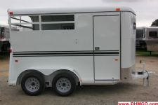 #77918 - New 2014 Dixie Tuff 2HBPSLDLX 2 Horse Trailer  with 2' Short Wall