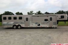 #02329 - Used 2012 Bison 8410MTGLQ 4 Horse Trailer  with 10' Short Wall