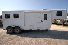 #04480 - New 2015 Bison Trail Hand 7260LQ S 2 Horse Trailer  with 6' Short Wall