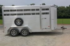 #A9818 - New 2015 Sundowner Stockman16BP Stock Trailer