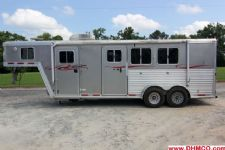 #91449 - Used 2006 Featherlite 7360LQ 3 Horse Trailer  with 6' Short Wall