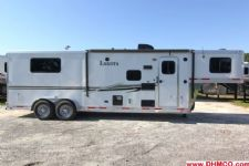 #87588 - Used 2014 Lakota 7309LQ Charger 3 Horse Trailer  with 9' Short Wall