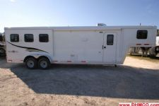 #04551 - New 2015 Bison Trail Boss 7310LQ 3 Horse Trailer  with 10' Short Wall