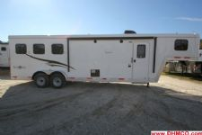 #04552 - New 2015 Bison Trail Boss 7310LQ 3 Horse Trailer  with 10' Short Wall