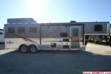 #04554 - New 2015 Bison Ranger 8308GLQ 3 Horse Trailer  with 8' Short Wall