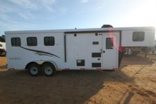 #04563 - New 2015 Bison 7360LQ Dixie Renegade 3 Horse Trailer  with 6' Short Wall