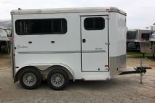 #A6855 - Used 2013 Sundowner Sportman 2 Horse Trailer  with 3' Short Wall