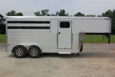#A9936 - New 2015 Sundowner SS3HGN 3 Horse Trailer  with 2' Short Wall