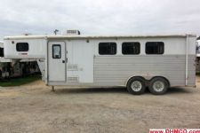 #25875 - Used 2003 Exiss ES307ELQ 3 Horse Trailer  with 7' Short Wall