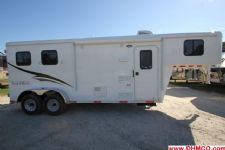 #04566 - New 2015 Bison Trail Hand 7260LQ S 2 Horse Trailer  with 6' Short Wall