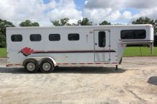 #A3175 - Used 1998 Sundowner 4HSL Valuelite 4 Horse Trailer  with 2' Short Wall