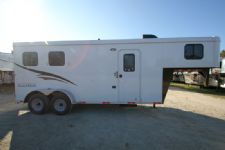 #04574 - New 2015 Bison 7260LQ Dixie Renegade 2 Horse Trailer  with 6' Short Wall