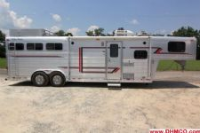 #11191 - Used 1997 4 Star 8310LQ 3 Horse Trailer  with 10' Short Wall
