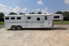 #14248 - Used 2000 Trails West 7380MTLQ 3 Horse Trailer  with 8' Short Wall