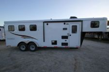 #04595 - New 2015 Bison Trail Hand 7360LQ S 3 Horse Trailer  with 6' Short Wall
