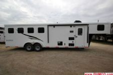 #04606 - New 2015 Bison Trail Hand 7480LQ 4 Horse Trailer  with 8' Short Wall