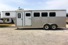 #24558 - Used 2003 Exiss ES400LQ 4 Horse Trailer  with 4' Short Wall