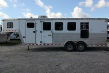 #47583 - Used 2005 Kiefer Built Genesis 4HSL 4 Horse Trailer  with 5' Short Wall