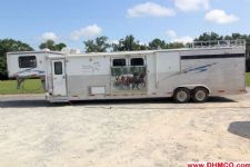 #09796 - Used 2008 Silverlite 8410LQ Ranch Lite 4 Horse Trailer  with 12' Short Wall