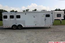 #44608 - Used 2003 Kiefer Built 7311LQ 3 Horse Trailer  with 11' Short Wall