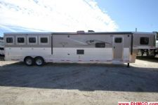 #00751 - New 2015 Lakota BIGHORN 8416GLQ 4 Horse Trailer  with 16' Short Wall