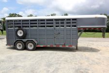 #25930 - Used 2000 Corn Pro 18'STK Stock Trailer