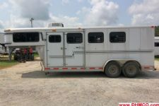 #32023 - Used 1999 Silver Star 7340LQ 3 Horse Trailer  with 4' Short Wall