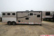 #00752 - New 2015 Lakota Charger 8311LQ 3 Horse Trailer  with 11' Short Wall