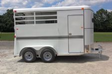 #77931 - New 2014 Dixie Tuff 2HBPSL 2 Horse Trailer  with 2' Short Wall