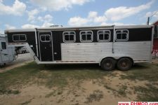 #14553 - Used 2000 Barrett 7440 LQ 4 Horse Trailer  with 4' Short Wall