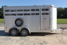 #A7180 - Used 2013 Sundowner 16' Stockman Stock Trailer