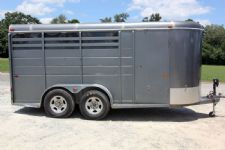 #51657 - Used 2001 CM 3HSL 3 Horse Trailer  with 2' Short Wall