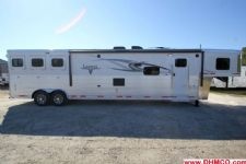 #00764 - New 2015 Lakota BIGHORN 8316GLQ 3 Horse Trailer  with 16' Short Wall