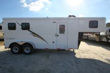 #04676 - New 2015 Bison 7260LQ Dixie Renegade 2 Horse Trailer  with 6' Short Wall