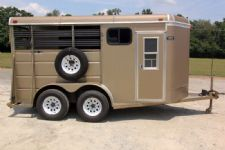 #32785 - Used 2002 Ponderosa 2HSLBP Pony Express 2 Horse Trailer  with 2' Short Wall